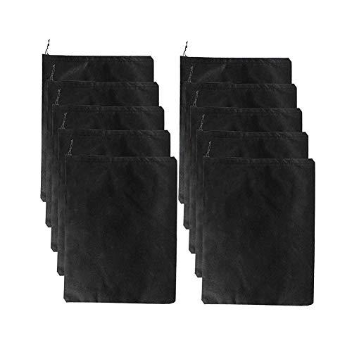 Sporttaschen Schuhbeutel YeeStone 10 Stück Schuhtasche mit Zugband/Transparente Fenster, Sporttasche Rucksack
