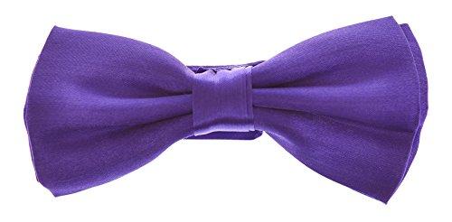 cadburys-purple-babies-pre-tied-bow-tie-plain-coloured-silky-satin-formal-wedding-suit-uk-seller