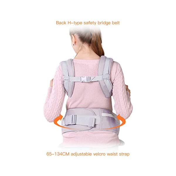 Ergonomic Baby Carrier with Adjustable Hipseat,for M Position,is The Benefits of improving Blood Circulation-Soft Baby Carriers with Front and Back Positions for Infants to Toddlers,Up to 60lbs,Grey tiancaiyiding ❤ Ergonomic Design: Wide and thick backpack straps help relieve stress . Easy to put on or take off. ❤ M shape Position: Stop hurting your baby's legs. Keep blood circulation in normality. ❤ All-round Support: Simple and thus strong structure. 360° wraps the baby against falling out. Collapsible hood for wind and sun protection 5