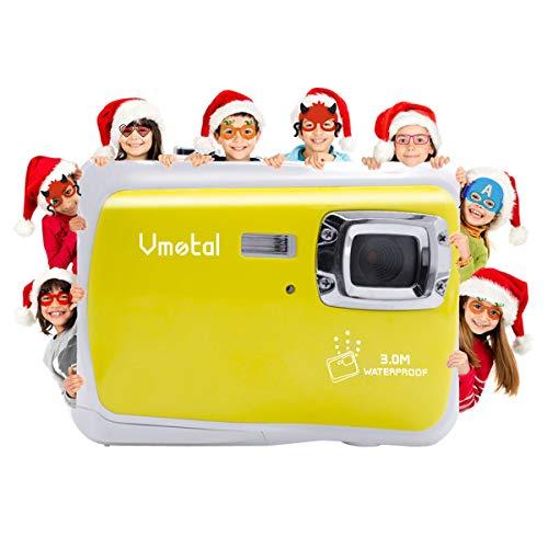 """Vmotal GDC5262 Wasserdichte Digitalkamera mit 4X Digitaler Zoom / 8MP / 2\"""" TFT LCD Bildschirm/Wasserdichte Kamera für Kinder (Gelb)"""