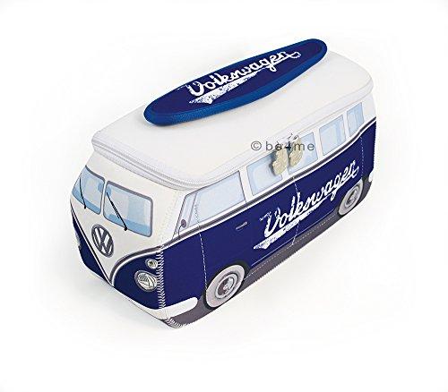 BRISA VW Collection Kulturbeutel Universaltasche im VW T1 Bulli Bus Design aus Neopren