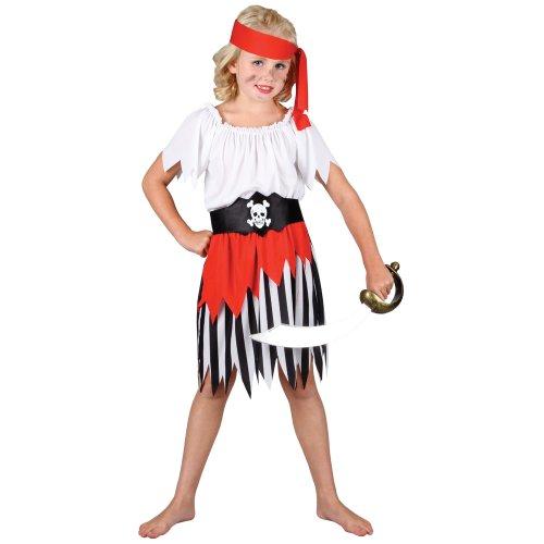 Seeräuber Piratin Verkleidung für Mädchen Fasching Karneval Halloween Kostüm (Pirate Mädchen Up Dress)