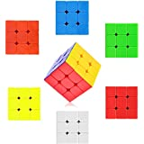 Kieana High Stability Stickerless 3x3x3 Speed Cube, Multi Color, Or Brain Enhancement And Logical Thinking / Return Gift For Kids / Pack Of 6