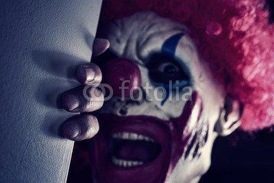 otiv: scary evil clown #123377134 - Bild auf Alu-Dibond - 3:2-60 x 40 cm/40 x 60 cm (Scary Clown Bild)