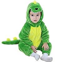 زي تنكري للأطفال بتصميم ديناصور من ميرييوليو، زي تنكري بغطاء للرأس للأطفال لعيد القديسين 100 سم/18-24 شهرًا