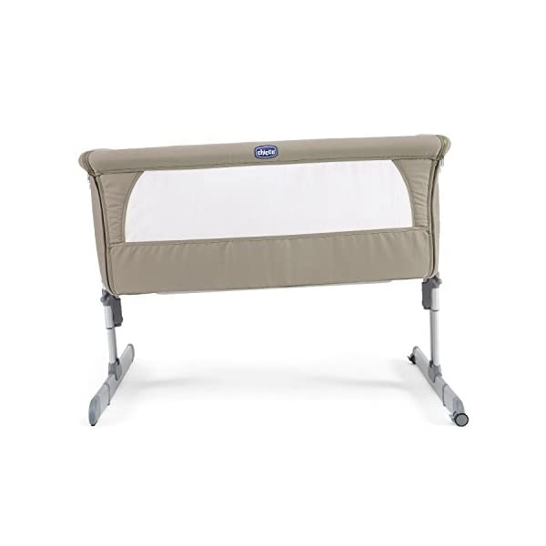 Chicco Next2me Side Sleeping Crib - Dove Grey Chicco Co-sleeping crib that promotes side-sleeping and allows you to sleep close to your child Can be used as a normal crib as baby grows.Open size: 66/81 x 93 x 69 Suitable from birth to 6 months/9 kg or until baby can pull themselves into an upright position 4