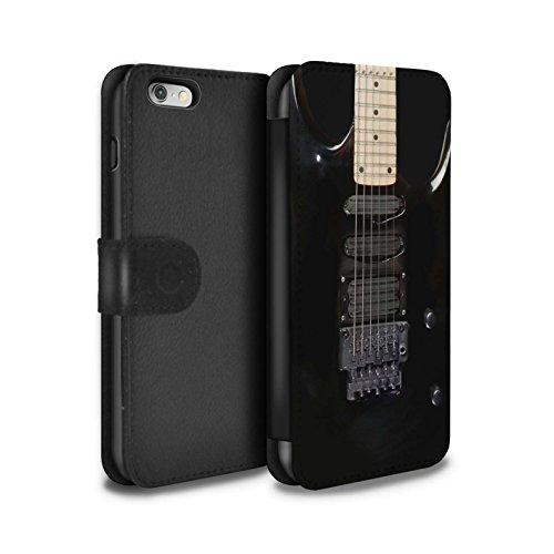 �lle/Case/Tasche/Cover für Apple iPhone 6 / Schwarz Electirc Muster/Gitarre Kollektion ()