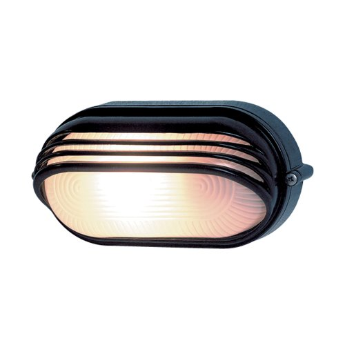 0590057555 Ovalleuchte Aluminium mit Abd., 60 Watt, schwarz