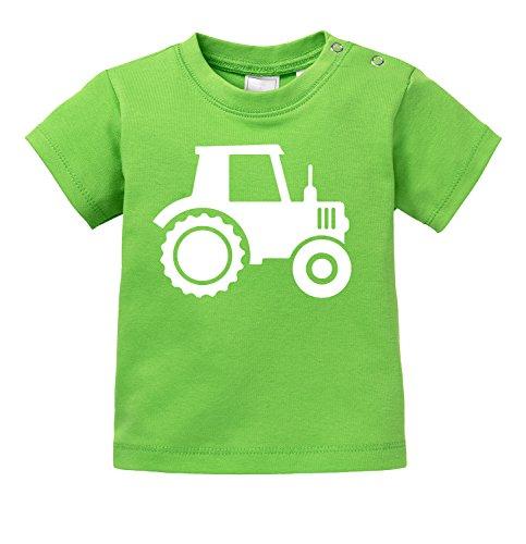 Kleinkind Kostüm Bauer Mädchen - Traktor - Aufdruck für Landwirtschaft begeisterte Kinder - Bio Baby T-Shirt