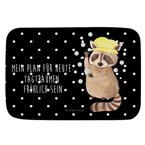 Mr. & Mrs. Panda Badvorleger Waschbär - Waschbär, Tagträumen, Plan, Fröhlich, waschen, Seifenblasen Badvorleger, Badematte, Badteppich, Duschvorleger, Rutschfest