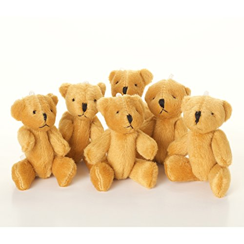 new-5-x-little-brown-teddy-bear-cute-and-cuddly-gift-present-birthday-xmas