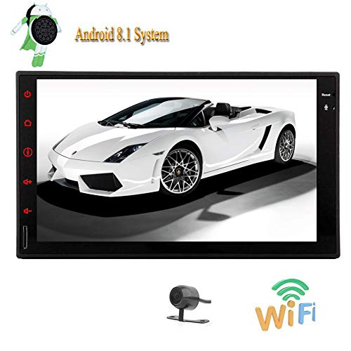 Android 8.1 Oreo Octa-Core 2GB 32GB Doppel 2Din Auto-Stereokopfeinheit Dash GPS Navigation 1024 * 600 Unterstützung Bluetooth Autoradio Mirrorlink WIFI 3G 4G OBD DVR USB-Sd FM AM RDS Radio + Rearview Dash 3g Usb
