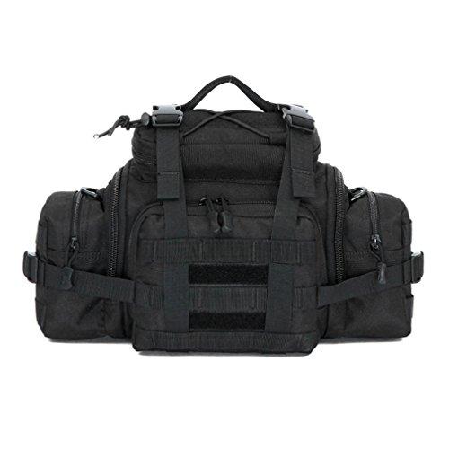 Männer und Frauen Handtasche Tarnung / Utility Taktische Taille Pack Military Molle Assault Beutel Trekking Wandern Bum Hip Pocket Ruck Sack Tragen Taschen Black