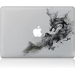 """Cinlla Adhesivos MacBook Dragón De Humo Computadora Portátil Calcomanías Adhesivas Desprendibles Para Apple MacBook 12""""Retina(A1534)"""