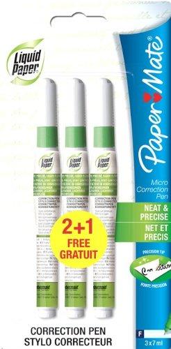 liquid-paper-paper-mate-s0189276-stylo-correcteur-micro-net-et-precis-lot-de-2-1-gratuit