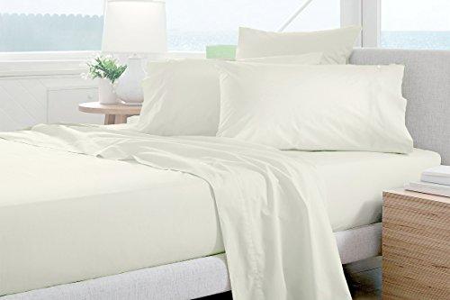 Authentische Ägyptische Baumwolle Bettlaken-Set passend für Matratzen bis 45,7cm Tief 1000TC, baumwolle, weiß, King Size (1000 Tc Blatt)