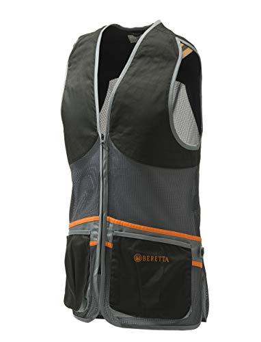 Beretta Schießweste Full MESH Vest Tontauben Trap Skeet leichte Weste schwarz-grau (XL) Skeet Shooting Vest