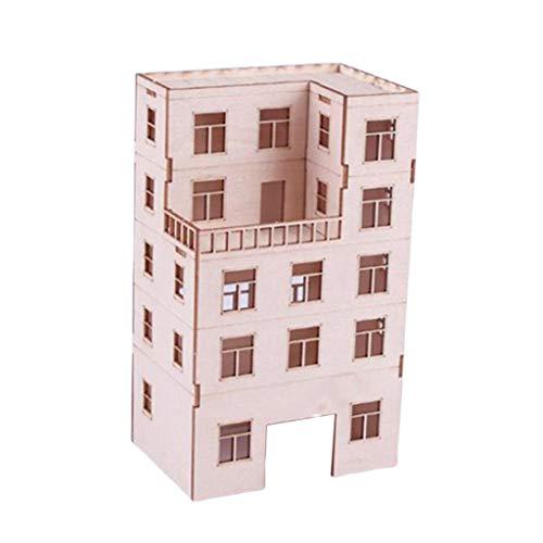 Sharplace DIY-Modellbau Holzhaus Holz Haus Modell Bausatz Wohnkultur für DIY Liebhaberei-Puzzlespiel