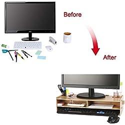 crayfomo Support moniteur Support moniteur pour imprimantes PC, iMac, MacBook et ordinateurs portables