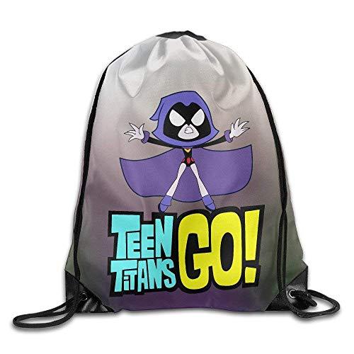 JMAKI Teen Titans Go Turnbeutel Hipster Sporttaschen,Unisex Gym Sack Beutel Totem Geometrisches Muster Sportbeutel Tüte Rucksack mit