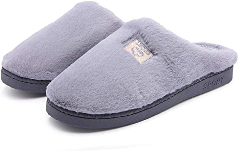 Chaussons Pantoufles Pantoufles Chaussons Chaussures Couleur Unie en Peluche Coton Hiver Maison Épaissir Garder Au Chaud Couple Garder...B07JWDHDHLParent 479ce7
