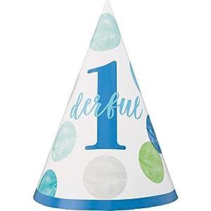 Unique Party 73311 - Sombreros de fiesta, color azul