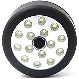 Hrph Tragbare COB 15 LEDs Taschenlampe Magnetische Arbeitsleuchte Falten Haken Runde Lampe Fackel Linternas