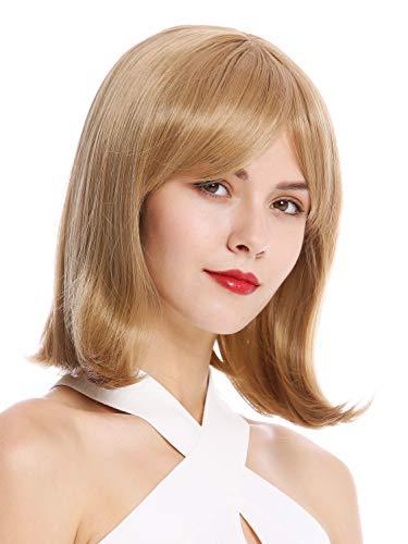 -16/26 Perücke Damenperücke Longbob Bob kurz schulterlang geschwungene Spitzen Blond Dunkelblond Mix ()