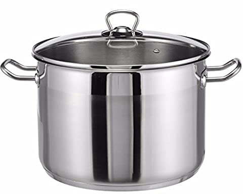 Large cooking pot stockpot stainless steel 10 litres boiling pan saucepan