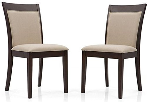 Urban Ladder Dalla Solid Wood Dining Chairs, Set of 2 (Latte)