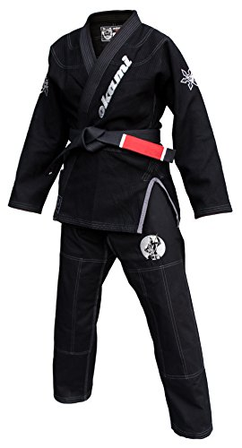 Okami Fight Gear Ninja Bjj Gi, Schwarz, A4 (Bjj Gi A4)