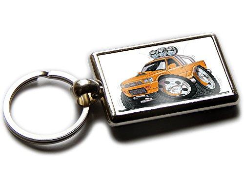 Koolart Toyota Hilux - Llavero cromado para camión o camión, naranja