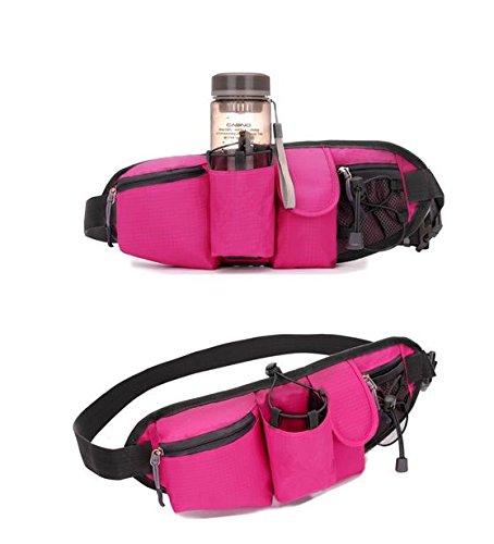 &zhou Kleine Taschen Freizeit Bergsteigen für Verwendung im freien Männer und Frauen kombiniert Geldbörsen Bewegung Schulter Umhängetasche Green