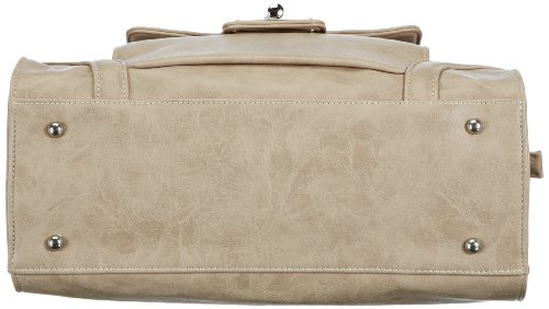 GERRY WEBER Eyes Handbag 4080002087, Damen Henkeltaschen 28x24x14 cm (B x H x T) Taupe (taupe 104)