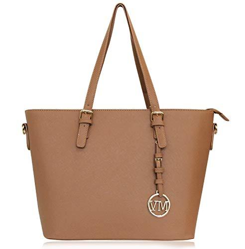 VANESSA  MELISSA Damen Handtasche PU-Leder Shopping Bag