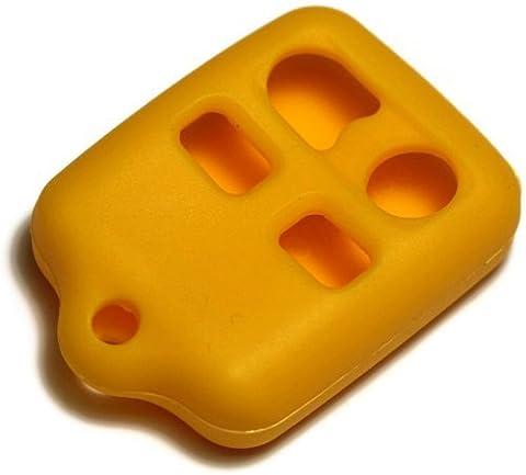 Housse étui en silicone jaune dantegts Porte-clés télécommande smart Pochettes