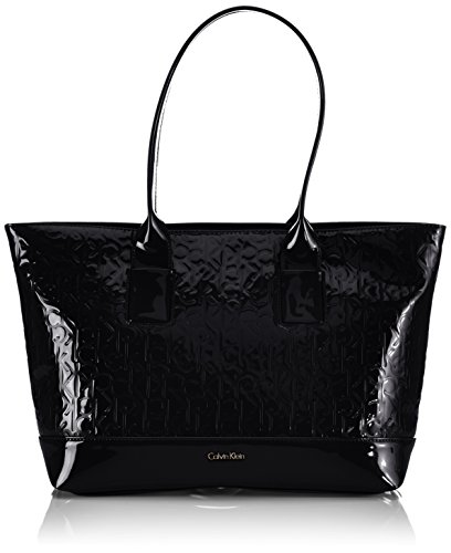 Calvin Klein Jeans MAGGIE J6EJ600231, Borsa shopper Donna, Nero (Schwarz (BLACK 990)), 35 x 28 (Maggie Nero)
