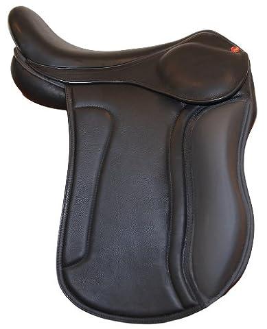 Karlslund Sattel S Saddle, Black/Gray, 17 Zoll,