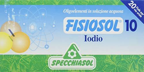 Specchiasol Fisiosol, 10 Iodio, 20 Fiale da 2 ml