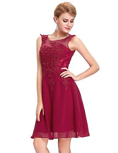 GRACE KARIN Vestito Donna Firmato Elegante Vestito da Sera Donna Elegante Abito Da Sera Floor Length Senza Maniche Maxi CK63-2