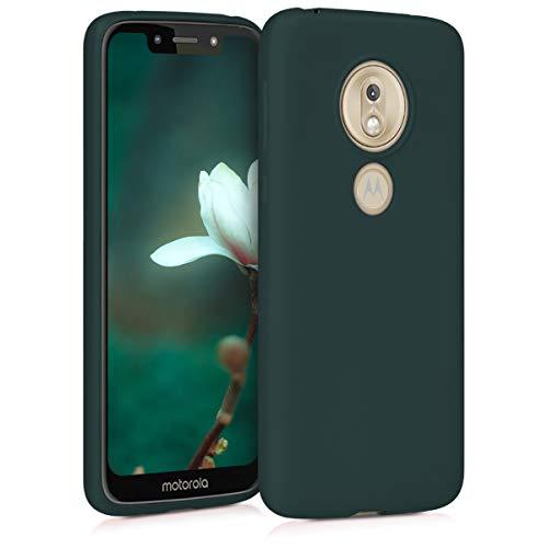 kwmobile Motorola Moto G7 Play Hülle - Handyhülle für Motorola Moto G7 Play - Handy Case in Metallic Petrol