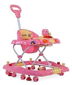 LuvLap Baby Walker Comfy Pink