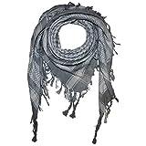 Superfreak Palituch - grau - weiß - 100x100 cm - Pali Palästinenser Arafat Tuch - 100% Baumwolle