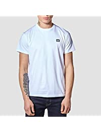Weekend Offender Mens Ishiguro Solid Colour Badge Tee T-Shirt In White