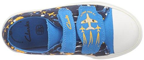 Clarks Kids - Tricer Jet Inf, Scarpe da ginnastica Bambino Blu (Navy Combi)