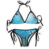 Photo de Women's Swimsuit Two Pieces Bikini Set, Topical Underwater Cave Fishes Swimming Marine Coral Reefs Exotic Aquatic Beauty Image,Swimwear Bathing Suits par F0k2t0