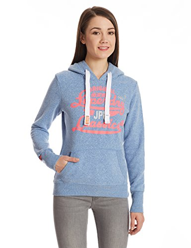 SUPERDRY Damen Sweatshirts & -Hosen Icarus Duo Hood, Blau (Snowy Cali Bluevzh), S