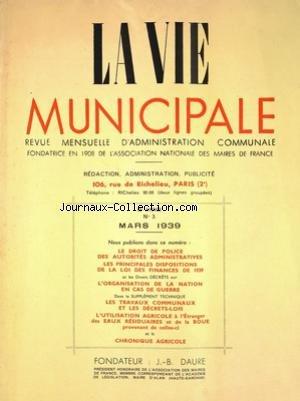 VIE MUNICIPALE (LA) [No 3] du 01/03/1939