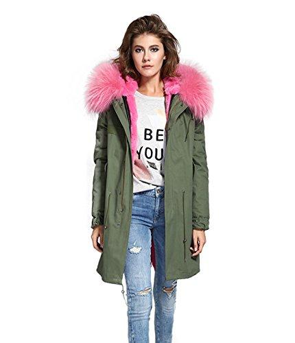 Lea-Marie - Blouson - Parka - Femme Vert Vert Rosa Pelz
