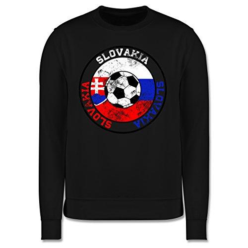 EM 2016 - Frankreich - Slovakia Kreis & Fußball Vintage - Herren Premium Pullover Schwarz